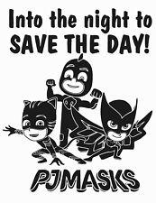 Pj Masks Superheroes Vinyl Wall Decal Quotes | Home Kids Bedroom Decor Art 20x26