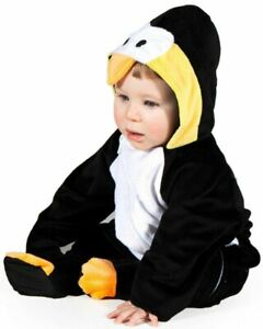 Baby Penguin All In One Suit Fancy Dress Costume Age 6 12 18 Months Boy Girl