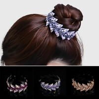 Women Hair Clip Claw Crystal Rhinestone Ponytail Bun Hair Comb Hairpin Party