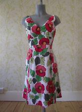 BODEN cotton floral print fitted summer sundress dress, UK 8 R