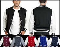 Mens PERSONALISED Varsity Jacket College Baseball Letterman Basketball XS - 5XL