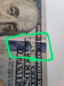 U.s. $100.error Note(fold Over)