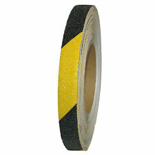 Antirutschband Klebeband 19mm x 18m Gelb Schwarz Selbstklebend Körnung 60 fein