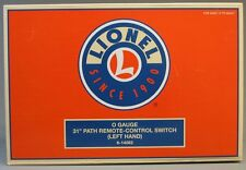 "LIONEL O GAUGE 31"" PATH REMOTE CONTROL LEFT HAND SWITCH turnout turn 6-14062 NEW"