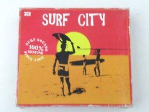 SURF CITY - BOX 3 CD - 60 TRACKS SURF SOUNDS 100% DISKY 2005 - VR