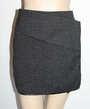SUPRE Designer Black Wrap Me Up Mini Skirt Size S BNWT #TB87