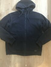 O'Neill Men's Black Zip Front Hoodie With Fleecy Lining Size XL