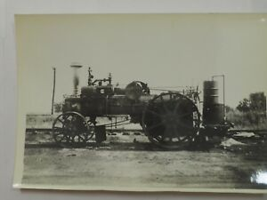 """Early Traction steam powered Farm Tractor Photo B&W 4.5"""" x 6.25"""""""