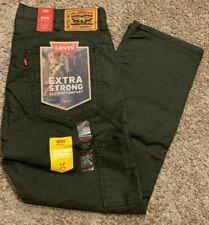 Levi's 505 Workwear Utility Pants Regular Fit Green Canvas Men's Sizes NWT 0006