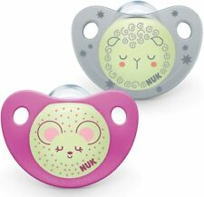 NUK Night and Day Silicone Soothers 6-18month Pink
