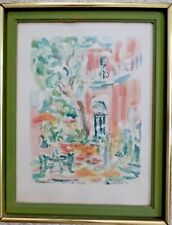 DONABETH JONES SIGNED TITLED  DATED LITHOGRAPH OF OLIVIER HOUSE ON TOULOUSE STR.