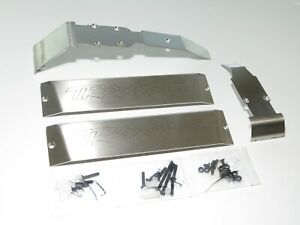 YY-MADMAX TRAXXAS E-REVO SUMMIT STAINLESS STEEL SKID PLATE BELLY COVERS