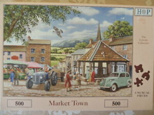 House of puzzles Market Town Lynvale Collection 500 Pieces complete