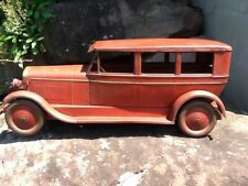 RARE Antique 1920s Tuner Toys Lincoln Sedan Large Pressed Steel Toy Car