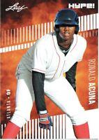 Ronald Acuna Jr. 2018 Leaf HYPE! Baseball Rookie 25 Card Lot Atlanta Braves #1