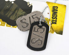 Anime GANGSTA Ginger Military Card Cosplay Necklace with Chain & Box S/5 Dog Tag
