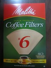 Melitta Cone Coffee Filters #6 Natural Brown  #626412  NEW