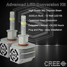 360 Degree Beam - New Gen CREE LED 6400LM Fog Light Kit 6k 6000k - H3 (P)