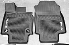 2019 Rav4 FloorMat Black Rubber ALL Weather Liners Genuine OEM PT908-42190-02
