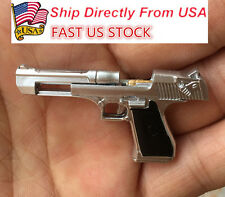 US Shipping 1/6 Scale Weapon Action Figure Silver Desert Eagle Pistol Toy Gun