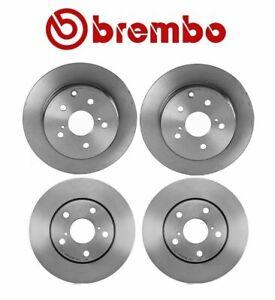 For Toyota RAV4 2006-2014 Brembo Front and Rear Brake Disc Rotors UV Coated Kit