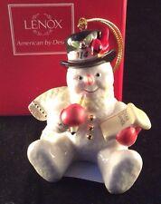 Lenox 2014 Making a List for Santa Snowman Ornament Dated New In Box