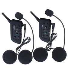 2X BT Motorcycle Helmet Bluetooth Headset Motorbike Intercom 6 Riders 1200M