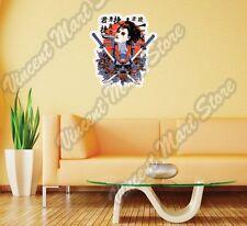 "Geisha Japanese Female Sword Gift Idea Wall Sticker Room Interior Decor 18""X25"""