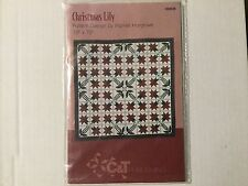 """Quilting pattern C&T PUBLISHING Christmas Lily 70"""" X 70"""" #80028 new"""