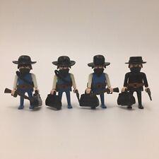 PLAYMOBIL GEOBRA | Cowboys / Bandits / Robbers | Western / Wild West | X 4