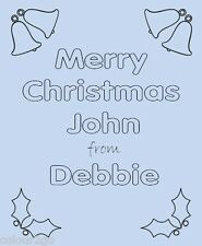 Personalised Christmas Activity Puzzle Card ~ Fun Childrens Gift Present