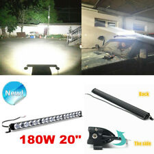 180W 20inch Slim Single Row 4D Spot Beam Off-Road LED Work Light Bar Waterproof