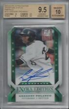 GREGORY POLANCO 2013 ELITE EXTRA STATUS EMERALD DIE CUT AUTO /25 BGS 9.5 POP 1/1