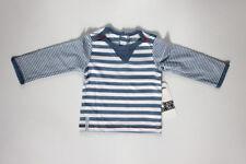 Camiseta azul y blanca de niño de manga larga (talla 9 meses)