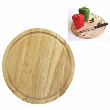 25cm Round Chopping Board Wooden Bread Veg Food Cutting Havea Wood Chopper Board