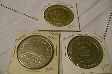 CASINO TOKENS of 1 DOLLAR EACH-LOT of 3