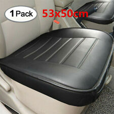 1Pc Black Non-slip Car Seat Luxury Leather Cover Breatherable Front Seat Cushion