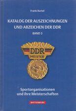 Battenberg-Katalog: Frank Bartel - Auszeichnungen und Abzeichen der DDR, Band 3