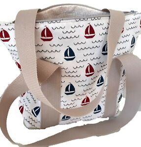 Tasche Handtasche Umhängetasche Schultertasche Handmade  Canvas Stoff maritim