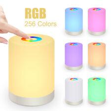LED Nachttischlampe Touch-Sensor-Steuerung Dimmbar Leseleuchte RGB-Farben Licht