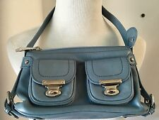 MARC JACOBS Women's QUINN Shoulder Handbag Purse in Ocean Blue $498 NWT