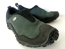MERRELL WMNs 5.5M Nova Como Black Green Mocs Shoes with Vibram Sole