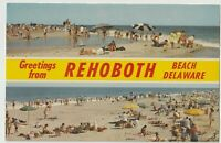 Postcard DE Greetings From Rehoboth Beach Delaware Unposted