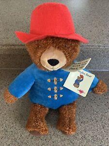 "Paddington Bear Kohls Cares Plush 14"" Teddy Blue Coat Red Hat 2016 With Tags"