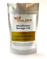 Live Well Starflower Borage Oil 500mg Softgel Capsules  free UK postage.