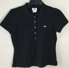 Lacoste Women's Short Sleeve Black Polo Shirt Size 38