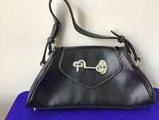 Butterfly Brand Black Simulated Leather Medium Shoulder Bag Handbag Purse (P5)
