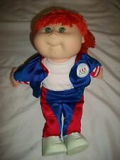 "Ah Vintage Cabbage Patch Doll Kid Olympikids 15"" 1996 Orange Hair Mattel Red Nip"