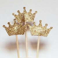 Crown Baby Shower Birthday Cake Topper Cake Decor Tool Party Supplies Cupcake