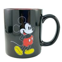 Disney Mickey Mouse Mug Ceramic Coffee Cup Classic Black Red Front Back